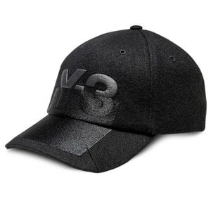 Y-3 X-Ray Logo Wool Cap Black